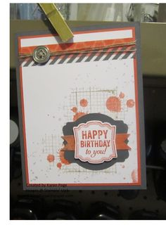 stampin up birthday card made with the label love stamp set