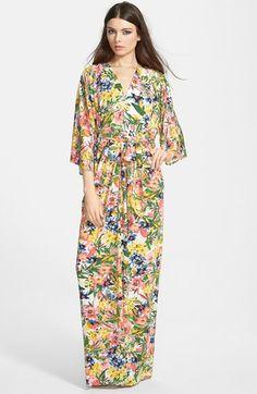 Filtre+Print+Kimono+Maxi+Dress+available+at+#Nordstrom