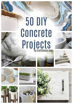 Things to Make With Cement - concrete cement crafts are lots of fun and very stylish for your home make planters, holders and other items Concrete Candle Holders, Diy Concrete Planters, Cement Art, Concrete Cement, Concrete Crafts, Concrete Projects, Concrete Garden, Diy Planters, Concrete Furniture