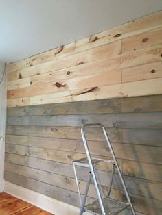 Pallet wall diy wooden plank wall wood plank walls staining a plank wall with milk paint . Into The Woods, Ship Lap Walls, Milk Paint, Wood Planks, Beautiful Bedrooms, Home Projects, Pallet Projects, Home Remodeling, Bedroom Remodeling