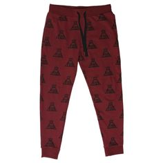 Maroon Jogger Pants ($30) ❤ liked on Polyvore featuring activewear, activewear pants and logo sportswear