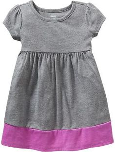 Color-Block Jersey Dresses for Baby