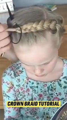 Baby Girl Hairstyles, Pretty Hairstyles, Easy Hairstyles, Curly Hair Styles, Natural Hair Styles, Girl Hair Dos, Hair Upstyles, Cool Hair Color, Love Hair