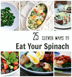 25 Healthy Spinach Recipes to Get Everyone Eating Their Greens! By brooklynsupper | September 7th, 2013 at 7:10 pm