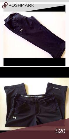 "Under Armour Black Athletic Capris Black capris. 92% nylon, 8% spandex . Like new! 20"" inseam Under Armour Pants Capris"