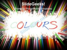 Colors Pencils Education PowerPoint Template 0910 #PowerPoint #Templates #Themes #Background