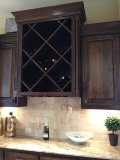 Built in wine cabinet
