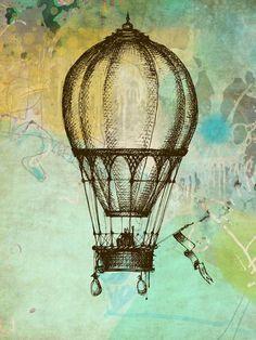 Vintage Style Hot Air Balloon