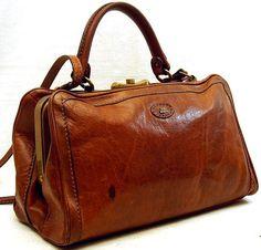 The Bridge Leather Gladstone Shoulder Bag