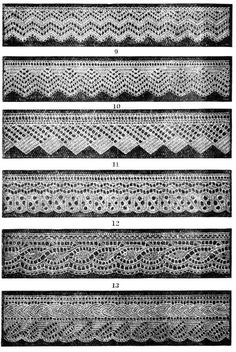 Knitted lace edgings 6 Victorian designs Set 2 Downloadable PDF