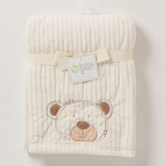 Drop Needle Sherpa Blanket On Hanger - Bear - Nursery Necessities: Blankets under $9 - Events