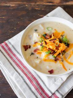 Sopa de Baked Potato Recheada | 24 Jantares extremamente deliciosos feitos na panela de pressão
