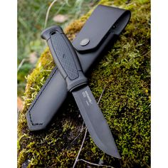 Morakniv Garberg Full Tang Fixed Blade Knife with Carbon Steel Blade, Bushcraft Camping, Bushcraft Knives, Tactical Knives, Knives And Tools, Knives And Swords, Leather Knife Sheath Pattern, Mora Knives, Best Pocket Knife, Fixed Blade Knife