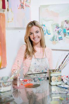 I love Teil Duncan's paintings! Shop Talk: Teil Duncan's Colorful Studio | theglitterguide.com