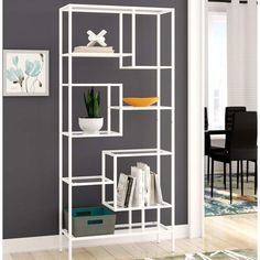 Turn on the Brights Alden Etagere Bookcase Glass Shelves In Bathroom, Floating Glass Shelves, Tempered Glass Shelves, Display Shelves, Shelving, Display Cabinets, Ikea, Contemporary Bookcase, Etagere Bookcase