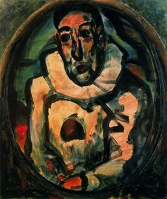 White Pierrot 1911 by Georges Rouault