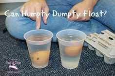 Mom to 2 Posh Lil Divas: Nursery Rhymes: Exploring Humpty Dumpty in Preschool - thalia Rhyming Preschool, Preschool Science Activities, Preschool Themes, Preschool Lessons, Science Projects, Science Area, Eyfs Activities, Kindergarten Science, Preschool Curriculum