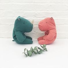 Our new and adorable stuffed friends, Mr. Rhino and Hippo by Maileg are now available on the #shop 🌿 we love their soft body and color + these make a wonderful gift and a perfect addition to decor the #nursery 💕 #ilovesugarloaf . . . . . #babyshop #maileg #babygift #toys #socute #babyshower #babylove #play #shopsugarloaf #baby #gift #brooklyn #newyork #new #softtoy #nurserydecor
