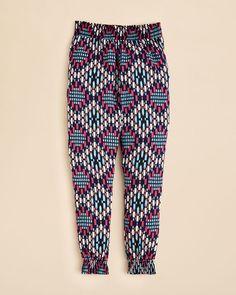 Splendid Girls' Geo Print Ankle Pants - Sizes 7-14