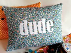 'dude' cushion by kindred rose   notonthehighstreet.com