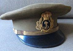 Gorra de plato de oficial de Infantería de Marina de época de Alfonso XIII