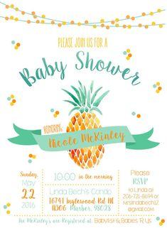 pineapple invitation pineapple baby shower invitation pineapple baby shower luau baby shower invitation pineapple invite bridal shower
