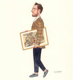 Fabio @pelikamo #menswear #tattoo #kuniyoshi #fashionillustration #slowboy