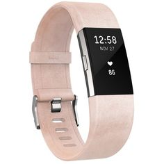 Fitbit Charge 2 Leather Accessory Band ($70) ❤ liked on Polyvore featuring jewelry, rings, blush pink, pink ring, fitbit jewelry, leather jewelry, leather ring and fitbit