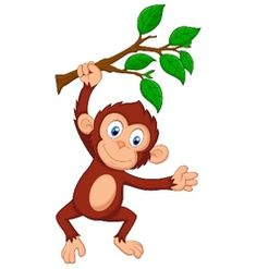Monkey Vector Images (over Free Vector Images, Vector Art, Free Monkey, Drawing School, Tigger, Bowser, Preschool, Royalty, Cartoon