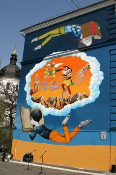 Seth x Interesni Kazki New Mural In Kiev, Ukraine StreetArtNews