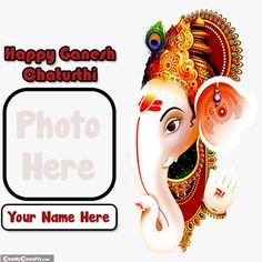Personalized name with photo creator happy ganesh chaturthi images download, make your name on beautiful bal ganesha festival indian celebration day pictures, send my name with photo add on unique greeting's card, best collection 2020 happy vinayaka chaturthi wallpapers download, write name on special person photo frame ganesh chaturthi image editor option, latest lord ganeshji wish you happy ganesh chaturthi pictures sending whatsapp status. Ganesh Chaturthi Photos, Happy Ganesh Chaturthi Wishes, Happy Ganesh Chaturthi Images, Vinayaka Chaturthi Wishes, Productive Things To Do, Celebration Day, Image Editor, Wishes Images, Special Person