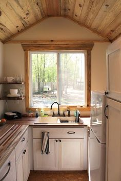 "Andrew's Family Tiny Home on Wheels: Rooms and Spaces and Tiny Places - Tiny House Talk | This: ""The interior is what turns a trailer into a home. It is where a person lays their head at night and you want that person to feel like they are in a palace and not an outhouse,"" says Pridgen."