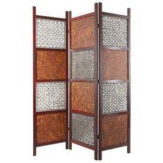 Tall Bamboo Leaf Room Divider   OrientalFurniture.com