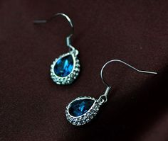 Charming drop shape earring with fish hook back,Style No.: A310082