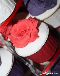 Red Velvet Rose Cupcakes | Iced Jems