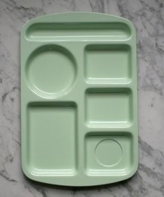Mint Green Melamine Duramel Hospital Tray Mess by TheArtofSalvage, $16.00