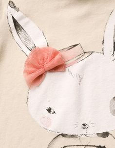 rabbit t-shirt with tulle applique - T-shirts - Baby girl (3-36 months) - Kids - ZARA United States