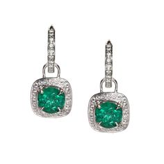 Emerald Earring Charms from Oliver Smith Jeweler.