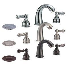 "8"" Widespread Bathroom Faucet with Drain"