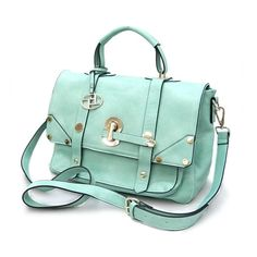 Pree Brulee Lady Cambridge satchel in Tiffany blue. Look Fashion, Fashion Bags, Trendy Fashion, Mint Purse, Mint Bag, Vogue, Summer Bags, Cambridge Satchel, Blue Bags