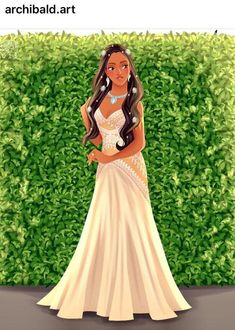 This is What Iconic Disney Characters Would Look on their wedding Pocahontas Disney, Princess Pocahontas, Disney Princess Cartoons, Disney Princesses And Princes, Disney Princess Fashion, Disney Princess Drawings, Disney Princess Art, Disney Princess Dresses, Princess Style