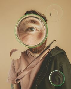 Exploring the space of lenses and refraction in 3D based off some portraits of myself. Photography by Melanie Riccardimelaniericcardi.com