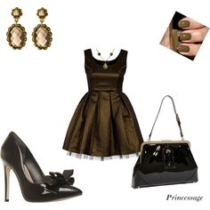 Brown Glam, created by princessage.polyvore.com