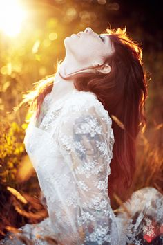 by Jordan Voth   #woman #beautiful #photography #sun #redhead #bride