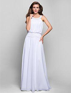 o linie de bijuterii podea-lungime sifon seară / bal rochie – EUR € 73.00