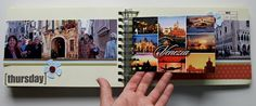 use postcards for journaling in your album
