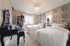 This luxury bedroom is perfect for Marilyn Monroe fans! http://bit.ly/1Cw4D56