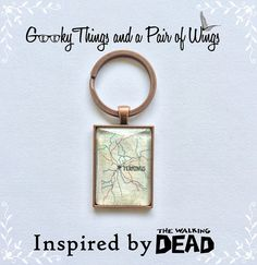 The Walking Dead Terminus Map Keychain by KarenchantedForest