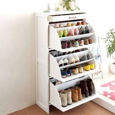 Stunning Useful Ideas: Living Room Remodel Before And After Columns small living room remodel shower curtains.Livingroom Remodel Hardwood Floors living room remodel with fireplace couch.Living Room Remodel On A Budget Tips. Ikea Shoe Storage, Ikea Shoe Cabinet, Ikea Bedroom Storage, Diy Storage, Diy Bedroom, Basement Storage, Trendy Bedroom, Clothes Storage Ideas For Small Spaces, Shoe Storage Ideas For Small Spaces