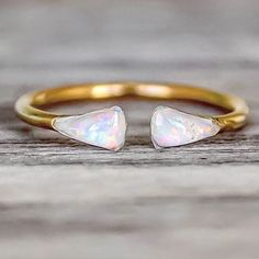 Gold Mermaid Tail Opal Ring || Also available in Rose Gold and Sterling Silver from our BEST SELLING 'Mermaid' Collection at www.indieandharper.com